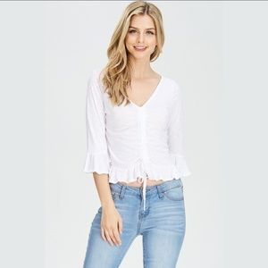 Tops - Bell Sleeves Scrunched Top